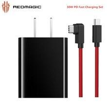 ZTE Nubia – chargeur Original Red Magic 3 PD, Charge rapide 30W, avec câble de données Double type c, pour ASUS z20 3 3s