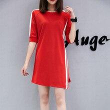 KANCOOLD DRESS платье Casual O-Neck Half sleeve Ladies Patchwork Striped Mini party Dress Fashion new Dress momen 2020JAN6