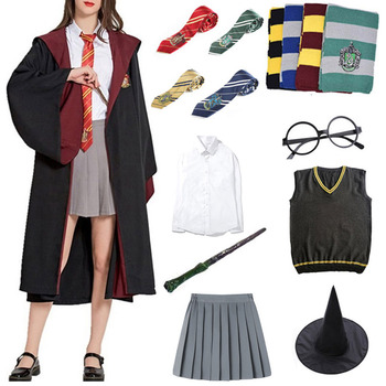 Potter Cosplay Clothes Hoodie Magic Cloak Costume Robe Cape Ropa Sweater Tie Scarf Wand Accessories Cosplay Costume Halloween neko atsume cat new cosplay daily hoodie girl lovely sweater winter cloak hoodie warm coat costume