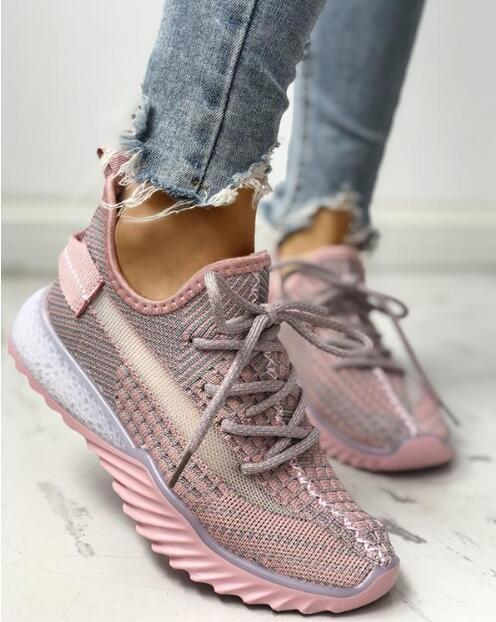 NAUSK 2020 Spring Women Casual Shoes Fashion Breathable Walking Mesh Flat Shoes Sneakers Women Tenis Feminino Vulcanized Shoes