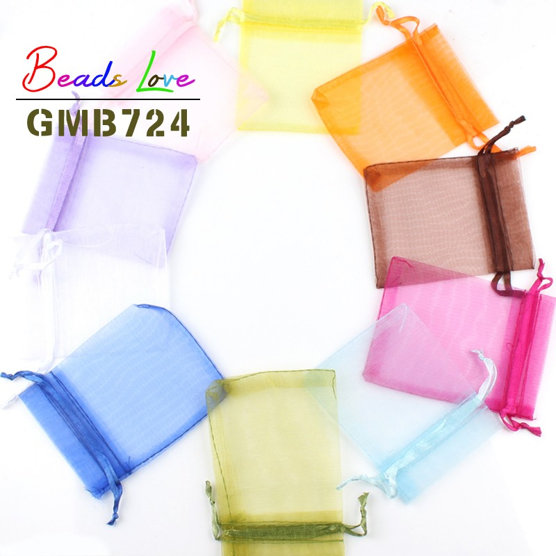 50pcs/lot 13x18cm Mix Color Drawstring Organza Bags Jewelry Packaging Bags Candy Wedding Bags Wholesale Gifts Pearl Mesh Pouches