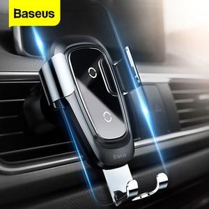 Image 1 - Baseus Qi kablosuz araç şarj cihazı iPhone 11 Pro Xs Max X 10w hızlı araba kablosuz şarj tutucu xiaomi Mi 9 Samsung S10 S9