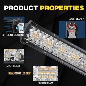 Image 3 - Co Licht 22 32 42 50 Inch Gebogen Led Light Bar Strobe Combo 390W 585W 780W 936W 3 Rij Voor Rijden Offroad Auto Vrachtwagen 4X4 Suv 12V