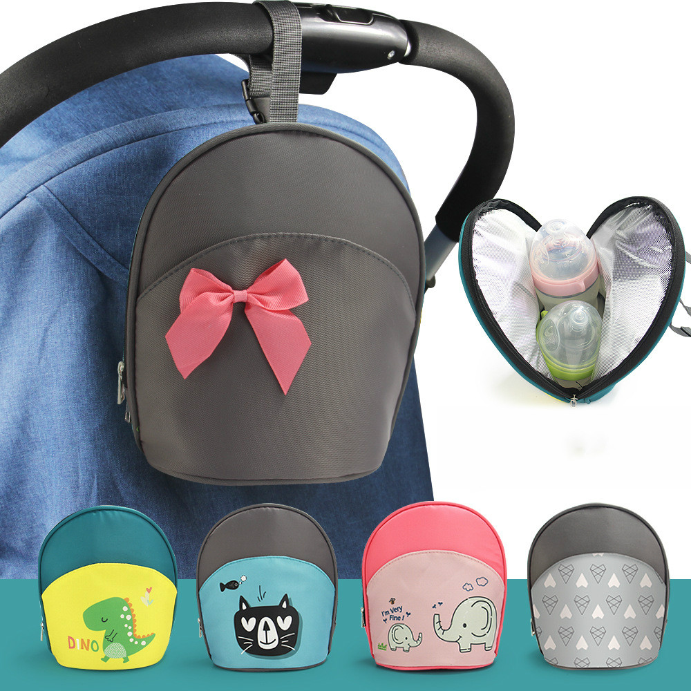 Portable Baby Insulated Breast Milk Cooler Bag Fashion Baby Travel Diaper Bag Waterproof Bag Cartoon Bottle Stroller Hanging Bag