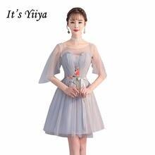 Короткие Платья для подружек невесты it's yiiya r288 элегантное