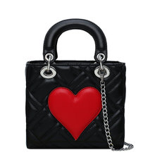 lady Small handbag female 2019 new arrival fashion brand design high quality chain shoulder Messenger bag love pattern handbag все цены