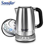 220V bouilloire électrique acier inoxydable 2200W ménage cuisine chauffage rapide bouillant théière Pot température ajustée Sonifer