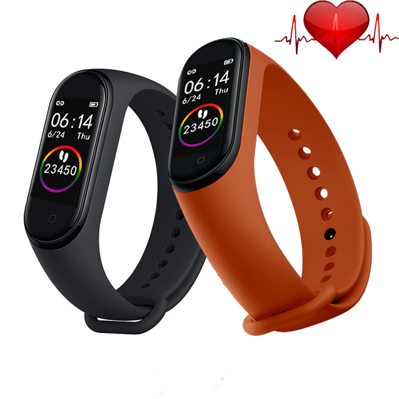 Hot <font><b>M4</b></font> <font><b>Smart</b></font> <font><b>Watch</b></font> Fitness Bracelet Heart Rate Blood Pressure Monitor <font><b>Smart</b></font> Bracelet For Huawei Samsung Android IOS Phone image