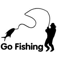 Autocollant réfléchissant drôle Go Fishing, 80%, autocollant de voiture SUV, décoration