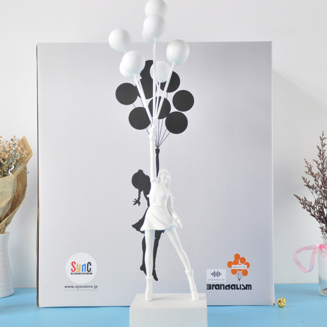 Banksy Flying Balloons Girl Art Sculpture Resin Craft Home Decoration Christmas Luxurious Gift figurine 1