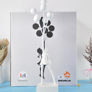 Image 1 - Banksy Flying Balloons Girl Art Sculpture Resin Craft Home Decoration Christmas Luxurious Gift figurine