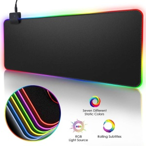 RGB Gaming Mouse Pad Large Mouse Pad Gamer Led Computer Mousepad Big Mouse Mat with Backlight Carpet For keyboard Desk Mat Mause(China)