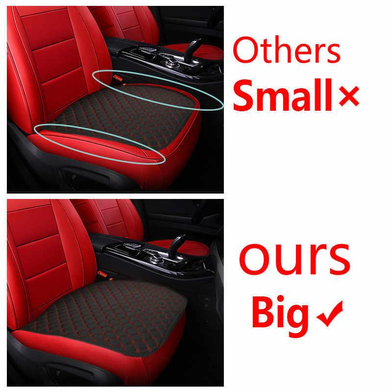 Чехлы для автомобильных сидений, подушки на четыре сезона, Нескользящие чехлы для сидений, мягкие удобные хлопковые спинки, универсальный размер, автомобильные аксессуары