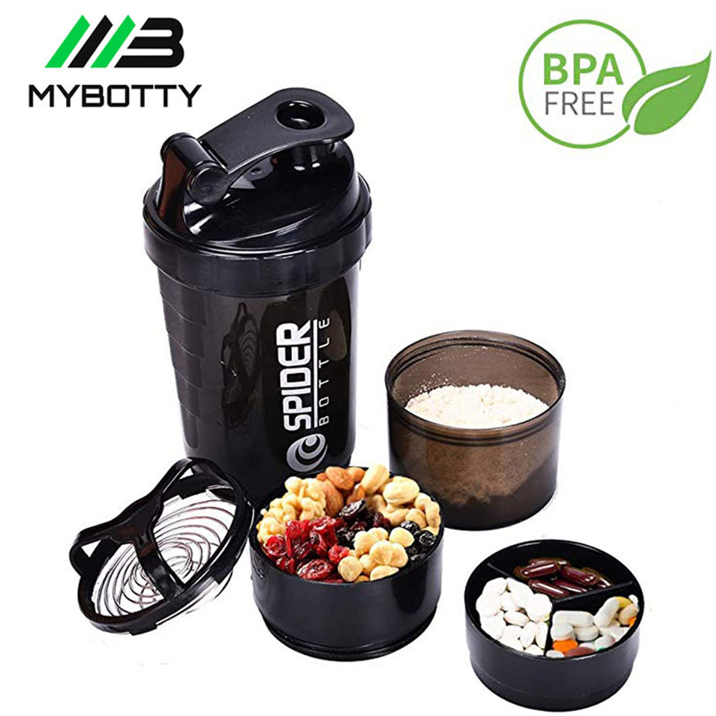 MYBOTTY Protein Powder Shaker Bottle Mixing Bottle Protein Powder Water Bottle Shaker Sport For Gym Portable Plastic Drinkware