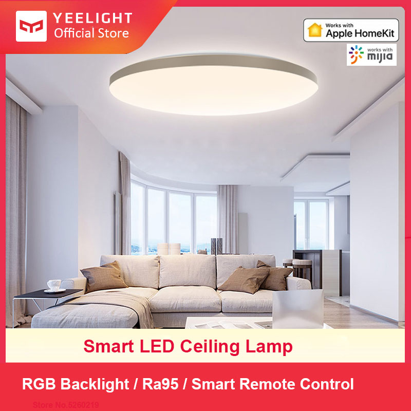 Yeelight 50W Smart LED Ceiling Lamp Light Dimmable Ambient Lighting Plafonnier Homekit Mijia APP Control Living Room YLXD50YL