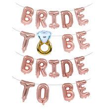 Ballon miss to mrs pour future mariée, 16 pouces, ensemble de décoration pour fête de mariage, festival, te am beide