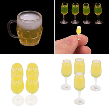 2/4pcs-Toys Dollhouse-Accessories Mug Scene-Model Scale Miniature-Resin Beer for 1/12