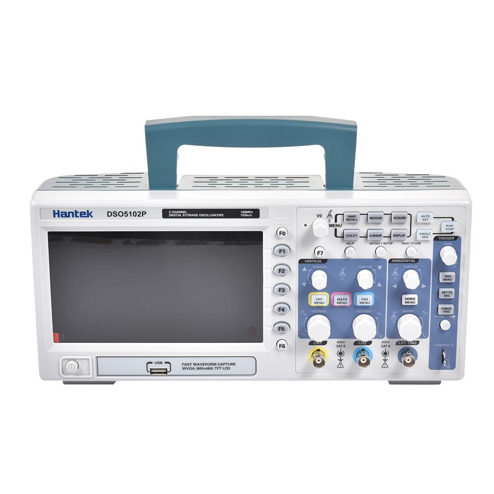 Free Shipping For Hantek DSO5072P <font><b>70MHz</b></font> Digital Storage <font><b>Oscilloscope</b></font> Handheld USB Storage 2 Channels 1GSa/s 7'' TFT LCD image