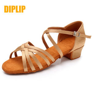 DIPLIP Girls Shoes Ballroom Latin Salsa Tango Kids Children New Soft
