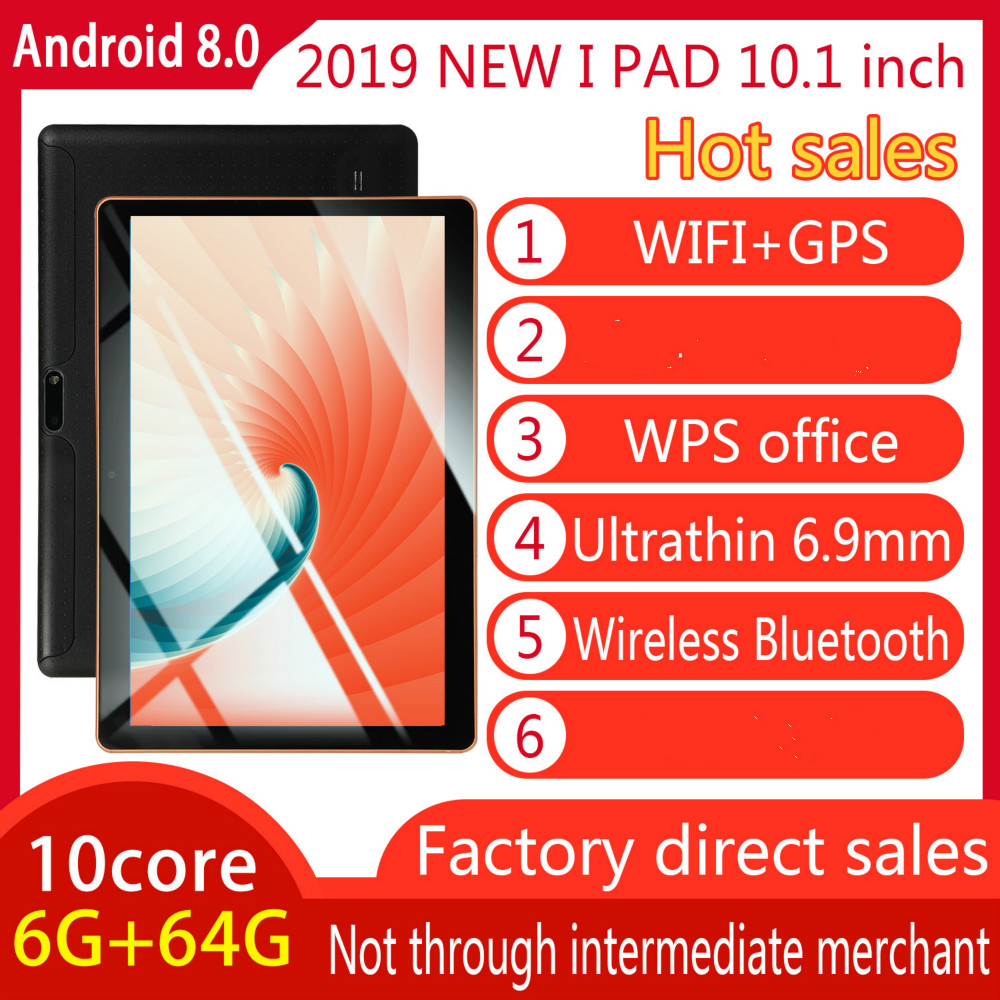 2020 WiFi Tablet PC 12800*800 IPS Screen 10 Inch Ten Core 6G+64G Android 8.0 Dual SIM Dual Camera Tablet GPS Phone Pad