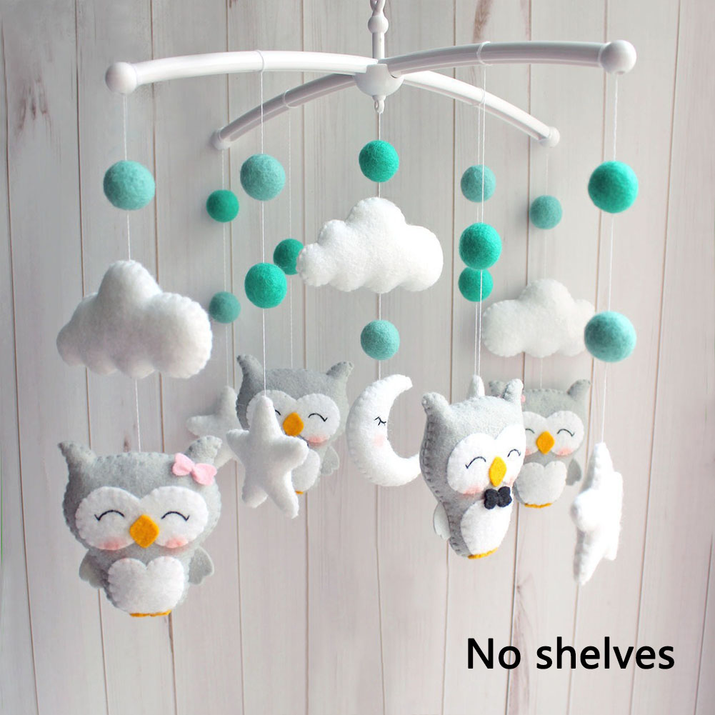 Mobile Pregnant Mom DIY Bed Bell Hanging Without Bracket Non-woven Fabric Sleeping Cartoon Newborn Infant Baby Crib Rattles Toy