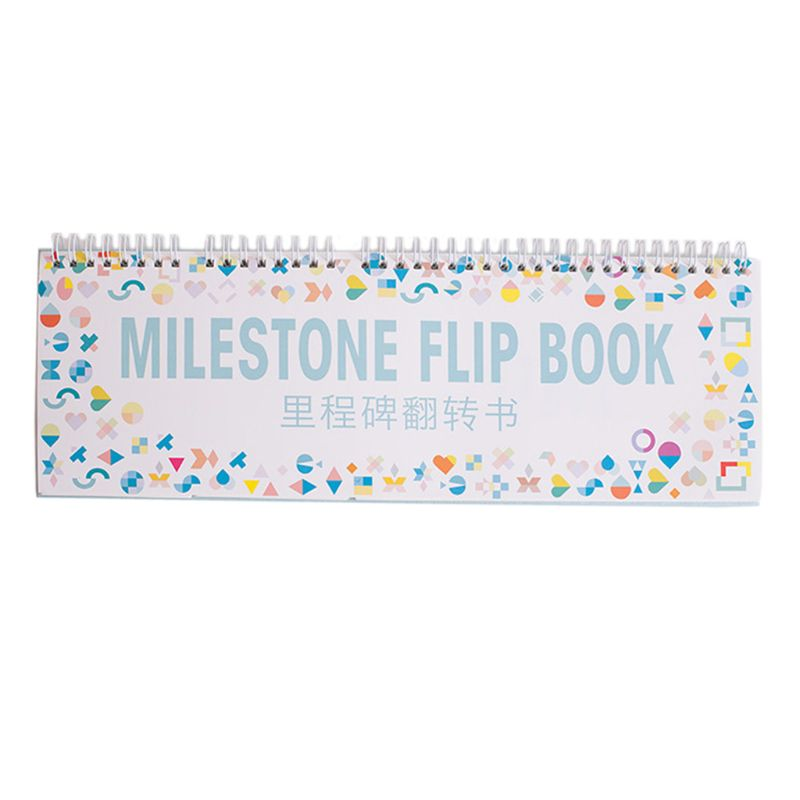 Baby Monthly Newborn Photos Funny Milestone Flip Book Photography Photo Album Month Milestone Cards