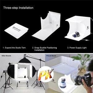 Image 3 - Mini Fotoğraf Stüdyosu led ışık Gölgesiz Arka Plan Fotoğraf ışık kutusu Fotoğraf Odası 20cm Ateş Çadır Küçük Ürünler