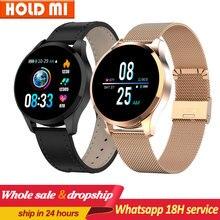 Q9 akıllı saat su geçirmez mesaj çağrı hatırlatma Smartwatch erkekler nabız monitörü moda spor izci pk Q8 Q1