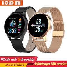 Q9 montre intelligente étanche Message rappel dappel Smartwatch hommes moniteur de fréquence cardiaque mode Fitness Tracker pk Q8 Q1