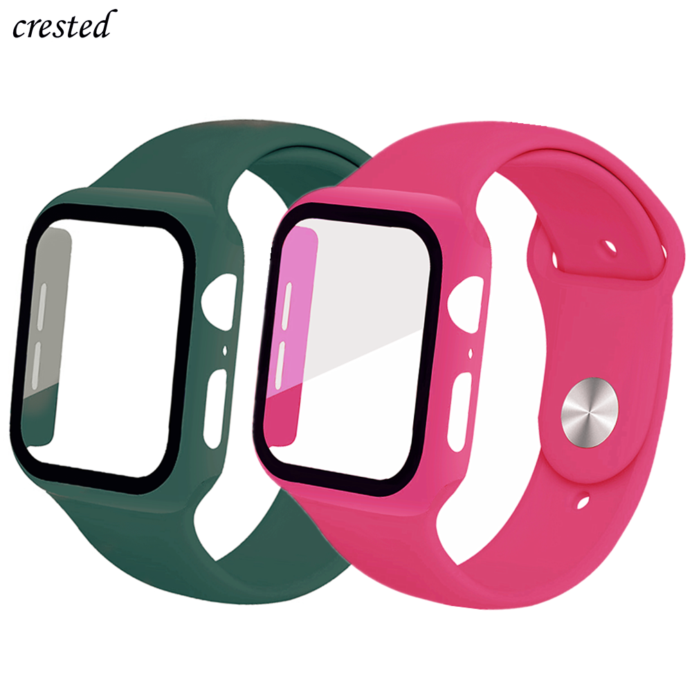 Sport Band For Apple Watch Strap 38 Mm 42mm IWatch 5 Band 44mm 40mm Screen Protector+Case+Bracelet Apple Watch Series 4 3 2 1 44