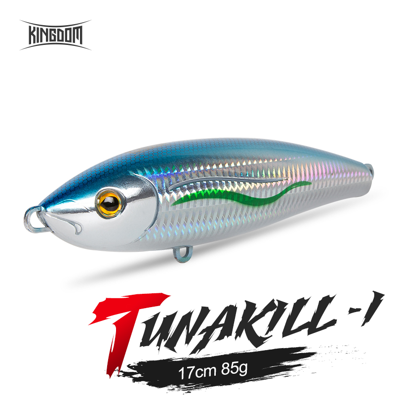 Kingdom TUNAKILL Large Sea Fishing Lures 170mm 85g Floating Pencil Hard Baits Good Action Wobblers High Quality Artificial Bait