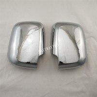 2 stuks ABS Chrome Car Side Deur Achteruitkijkspiegel Cover Voor toyota hilux surf 1998-2002