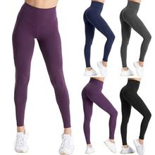 2020 high waist sports legging with pocket for women fashion new female workout stretch pants plus size Elastic fitness leggings