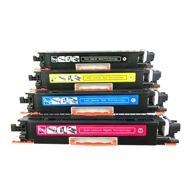 Compatible CF350A CF351A CF352A CF353A 130A Color Toner Cartridge for hp Color LaserJet Pro MFP M176n, M176 M177fw M177 printer