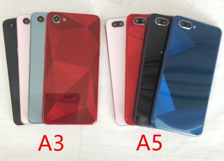 For Oppo A5 / A3s Battery Housing Phone Case With Mid Frame Back Cover +FOR Oppo A5 Middle Frame Replacement Parts