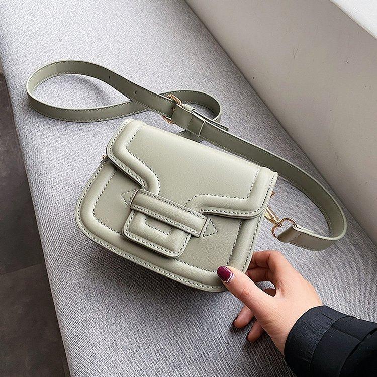 Vintage Saddle Shoulder Bag Pu Leather Crossbody Bags Solid Color Women Bag Flap Messenger Female Totes Casual Purse