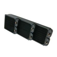 Radiateur de refroidissement à eau pour ordinateur, refroidisseur à liquide en cuivre 140 280 420 pour ventilateur de PC de 140mm