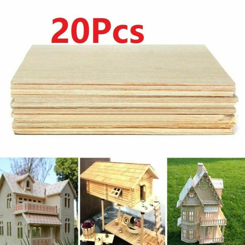 20 peças/100x100x1mm placa de madeira placa de luz material pode diy casa, navio, avião modelo brinquedo artesanato