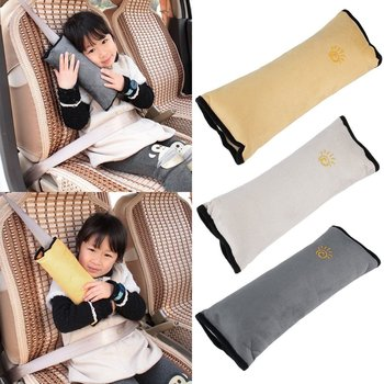 Baby Auto Pillow Kid Car Pillows Auto Safety Seat Belt Shoulder Cushion Pad Harness Protection Support Pillow For Kids Toddler image