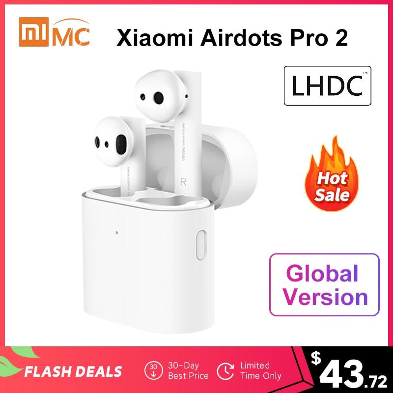 New Xiaomi Air 2 TWS Airdots Pro 2 Mi True Wireless Earphone Noise Canceling LHDC Tap Control HD Sound Quality Dual MIC ENC(China)