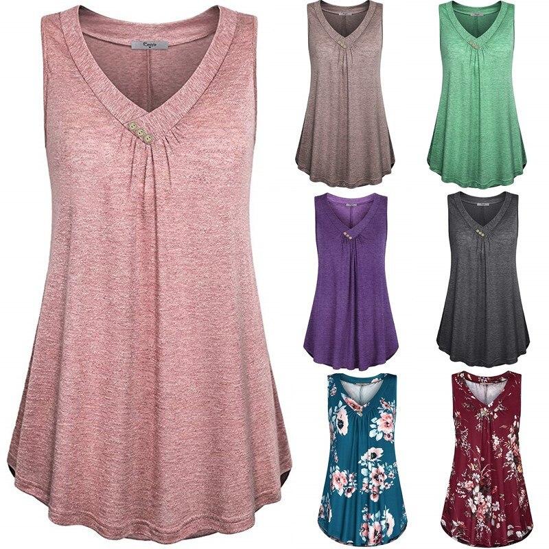 Madam Clothing OWLPRINCESS2020 New Style Large Size Dress V-neck Sleeveless Vest T Blood