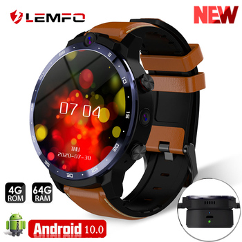 LEMFO LEM12 pro Smart Watch Android 10.0 GPS 4+64GB smartwatch men for Android ios phone 900mah big battery wireless projection