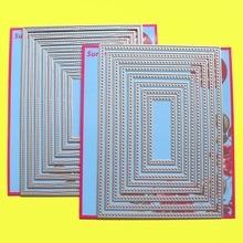 """Matrices de découpe à 2 jeux 5x7 """"double couture et point de croix Rectangles fabrication de cartes et Scrapbooking matrices de papier kraft pour travaux pratiques"""