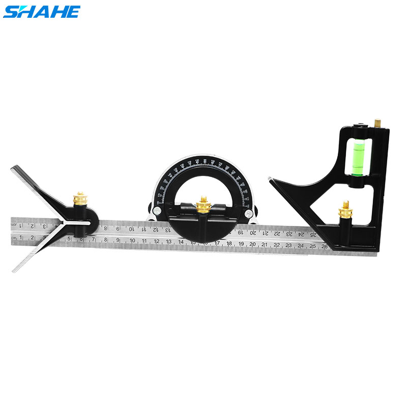 Shahe New 300 Mm Stanless Steel Multi-function Angle Ruler Combination Square Angle Ruler Measuring Tools Angle Gauge