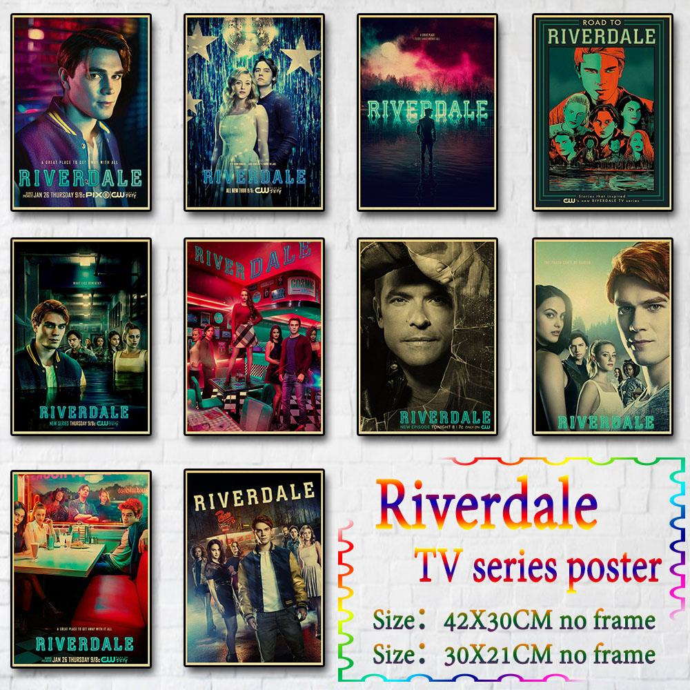 Riverdale Poster Decor Painting Prints Living-Room Retro Vintage Crafts Home-Wall Paper