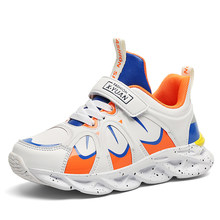 2019 New Kids Sneakers Outdoor Lightweight Girls Boy Shoes Running Sneakers Orange Blue Children Footwear Trainer(China)