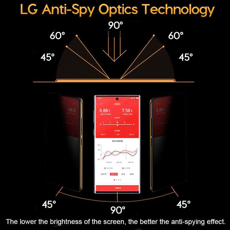 3D Curvo Anti-spy Vetro Temperato per Samsung Note 10 9 8 Privacy Protezione Dello Schermo Anti-Peep Pellicola per la Galassia S10 S9 S8 Più S10e