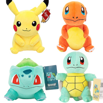 Charmander Squirtle Pikachued Bulbasaur Jigglypuff Lapras Eevee anime pokemoned stuffed toy Peluche plush doll Gift For kid 1