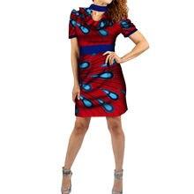 Африканская Дашики платья для женщин Базен riche Анкара печати