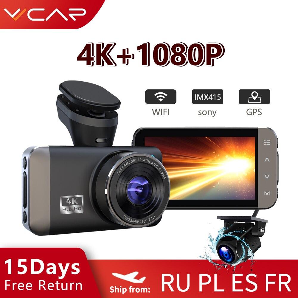 VVCAR D530 kamera samochodowa 4K + 1080P WIFI prędkość N GPS Dashcam kamera na deskę rozdzielczą rejestrator samochodowy Spuer Night Vision